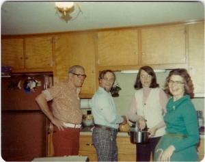 Bud, Alva, Sue, and Charlotte, Christmas