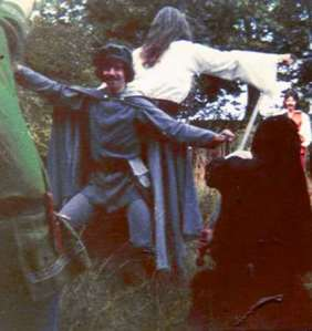 Patri and Ivan as Fafred and the Grey Mouser, fantasy picnic 1976