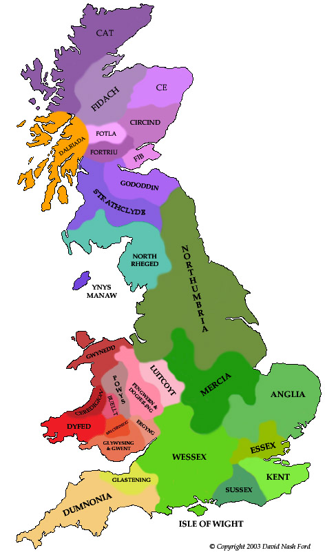 Map Of England 700ad.Map Of England During Anglo Saxon Times Twitterleesclub