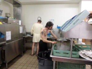 washing up at harpers