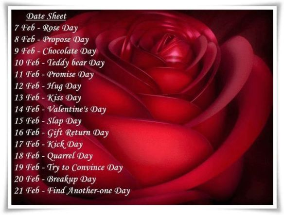 Valentine Days List extended