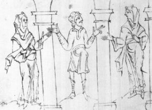 Junius Manuscript leggings