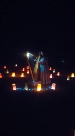 Jenna in night labyrinth