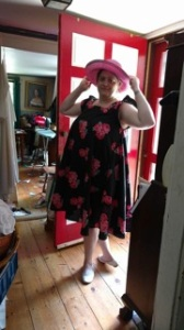 Willow, rose dress, pink hat