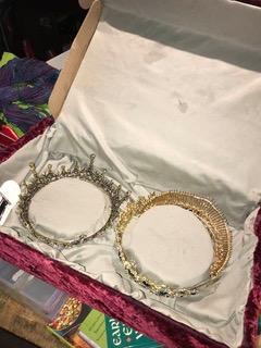 Inside of tiara box